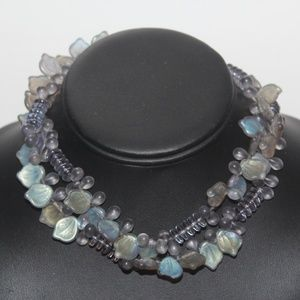 GLASS BEAD CLUSTER UNIQUE RARE NECKLACE NG3